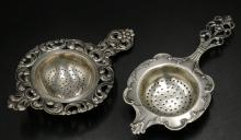 Two TH. Marthinsen Norway Sterling Tea Straners