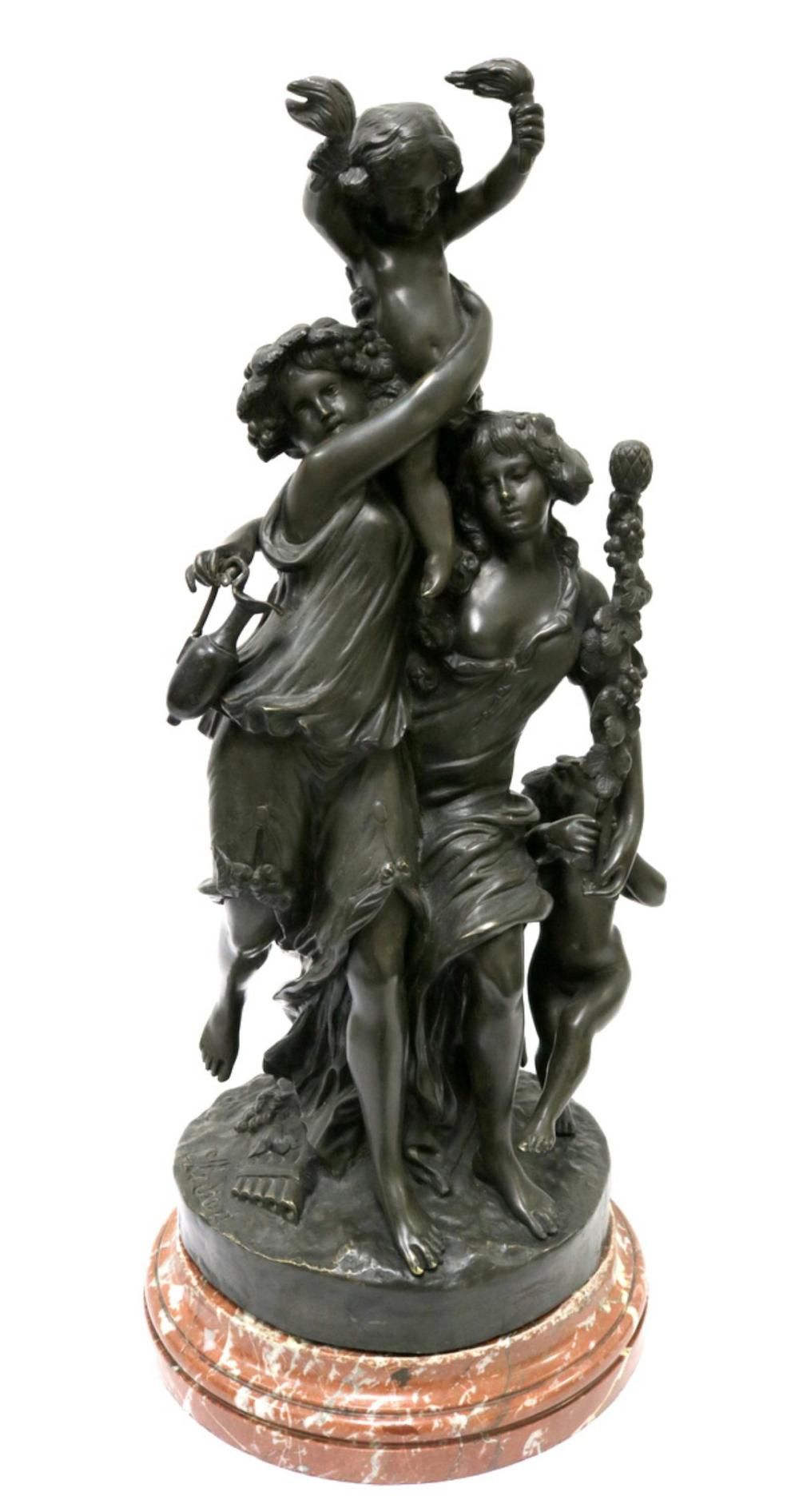 Michel Clodion (French 1738-1814) Bronze Group