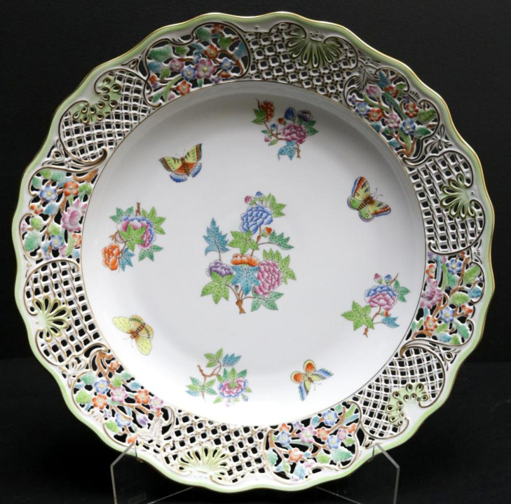 """Herend """"Queen Victoria"""" Porcelain Wall Plate"""