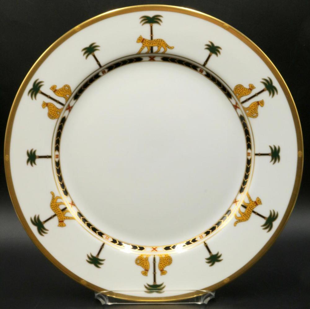 "12 Christian Dior ""Casablanca"" Porcelain Dinner Plates"