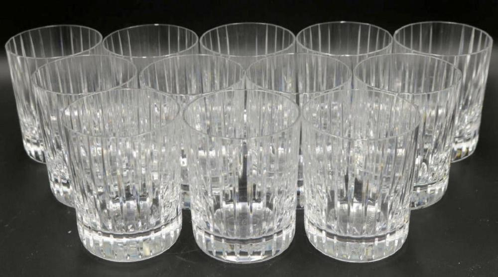 """12 Baccarat """"Harmonie"""" Crystal Double Old Fashioned Tumblers"""