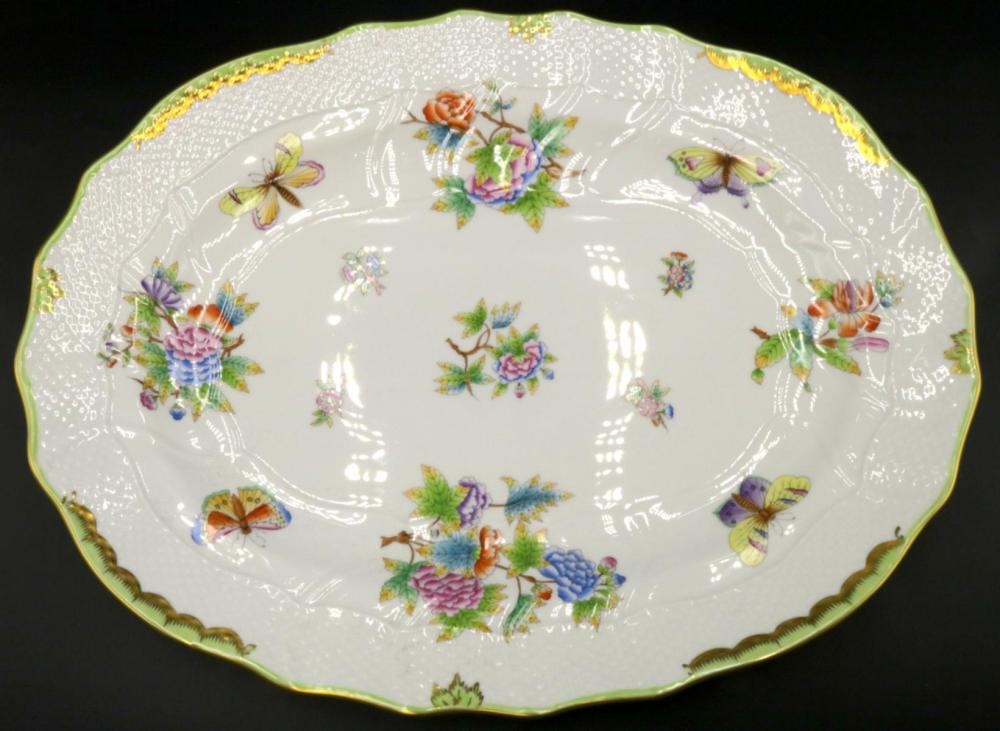 """Herend """"Queen Victoria"""" Porcelain Oval Platter"""