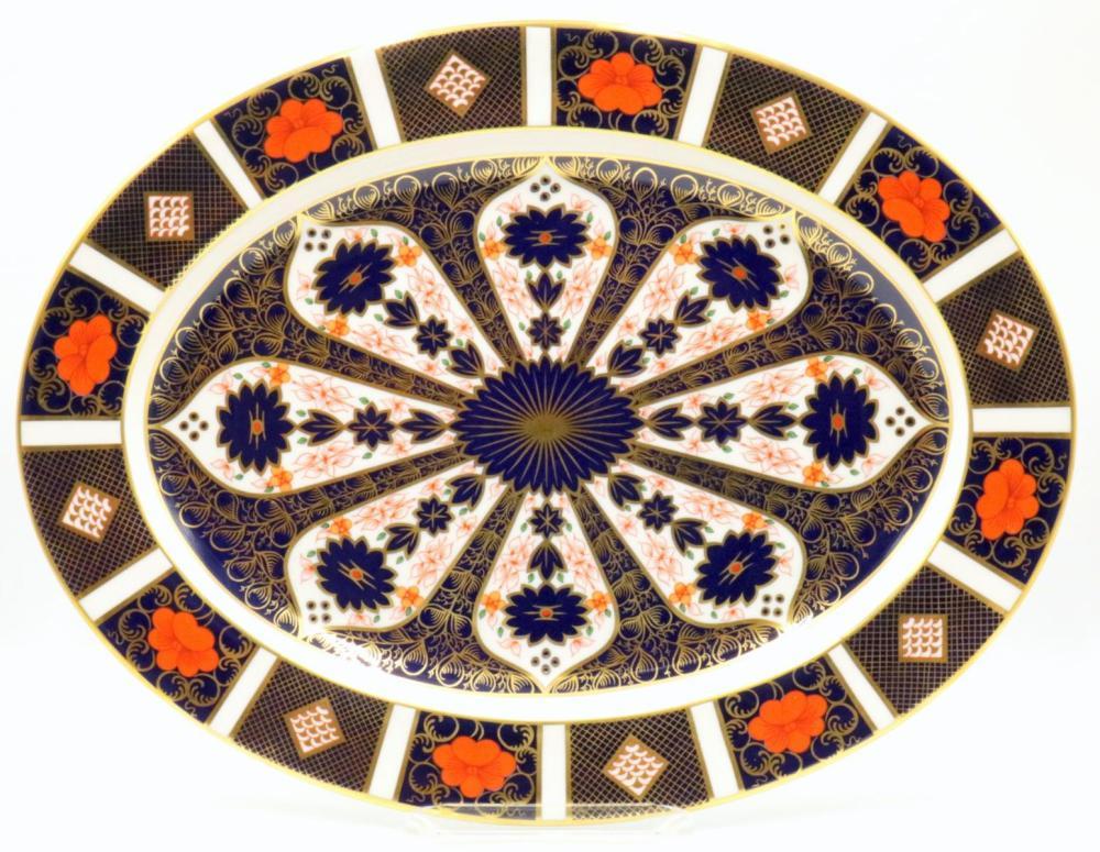 """Royal Crown Derby """"Old Imari"""" Large Oval Platter"""