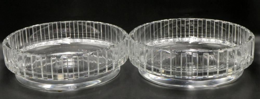"""Baccarat """"Rotary"""" Crystal Center Bowls"""
