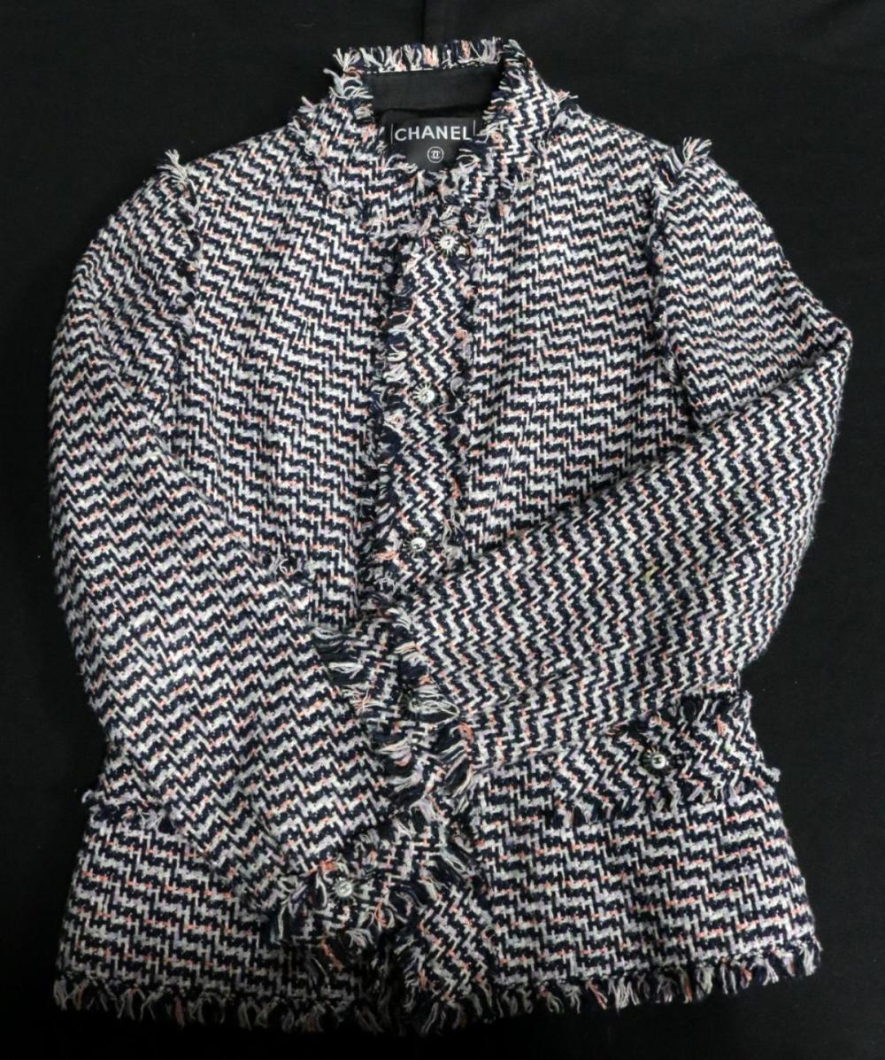 Chanel Classic Boucle Fringed Jacket