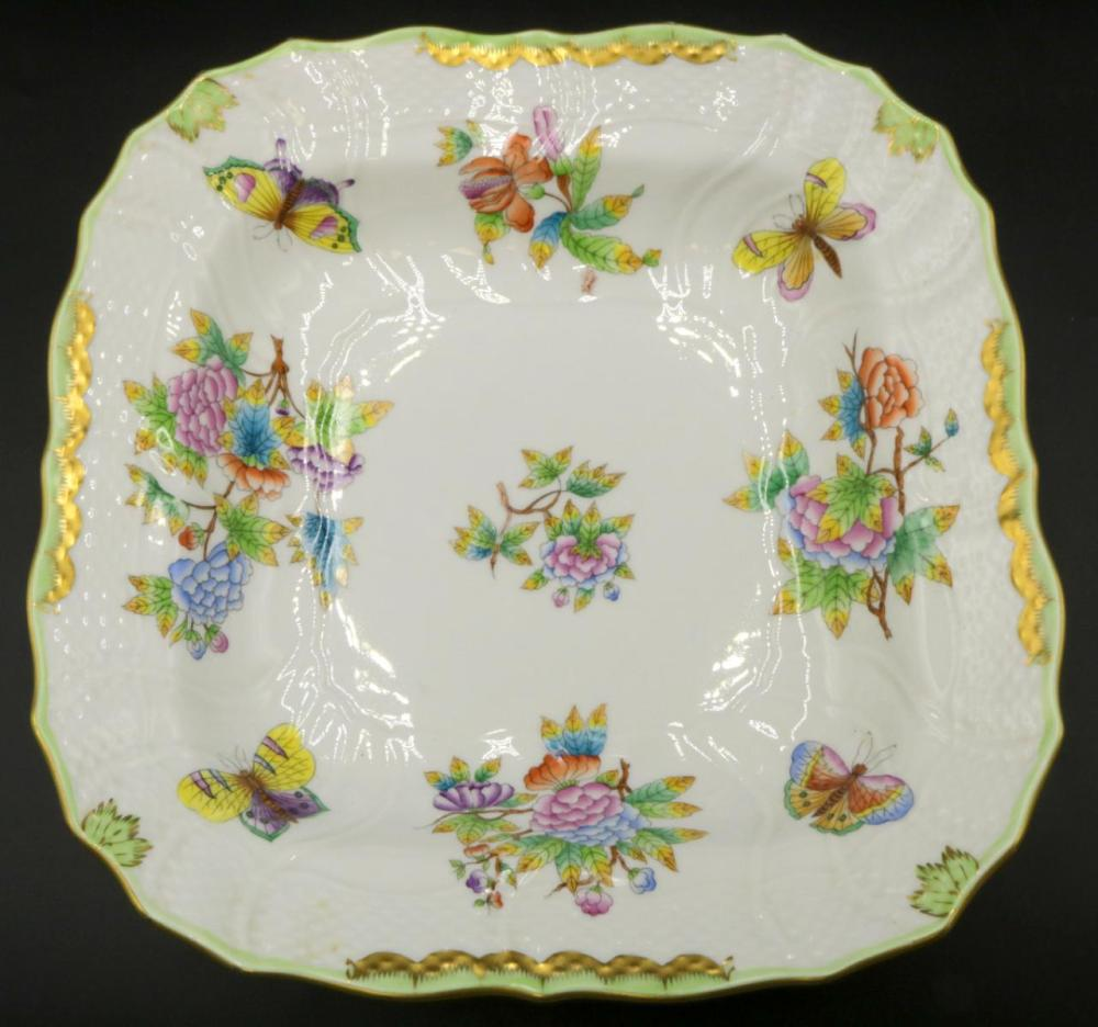 """Herend """"Queen Victoria"""" Porcelain Square Bowl"""