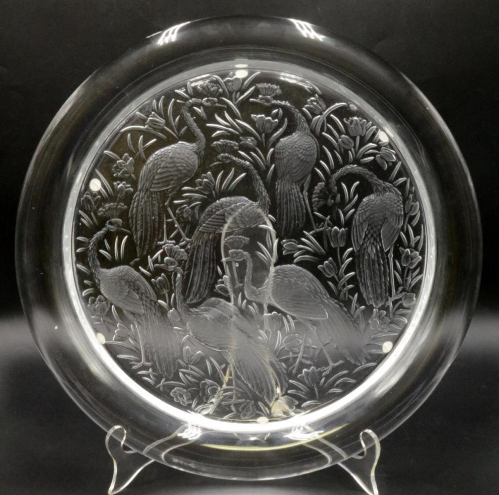 """Lalique """"Nigerian"""" Crystal Charger"""