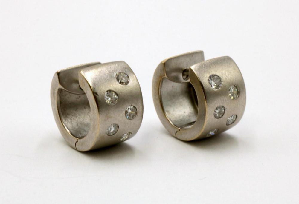 14Kt Diamond Huggie Earrings
