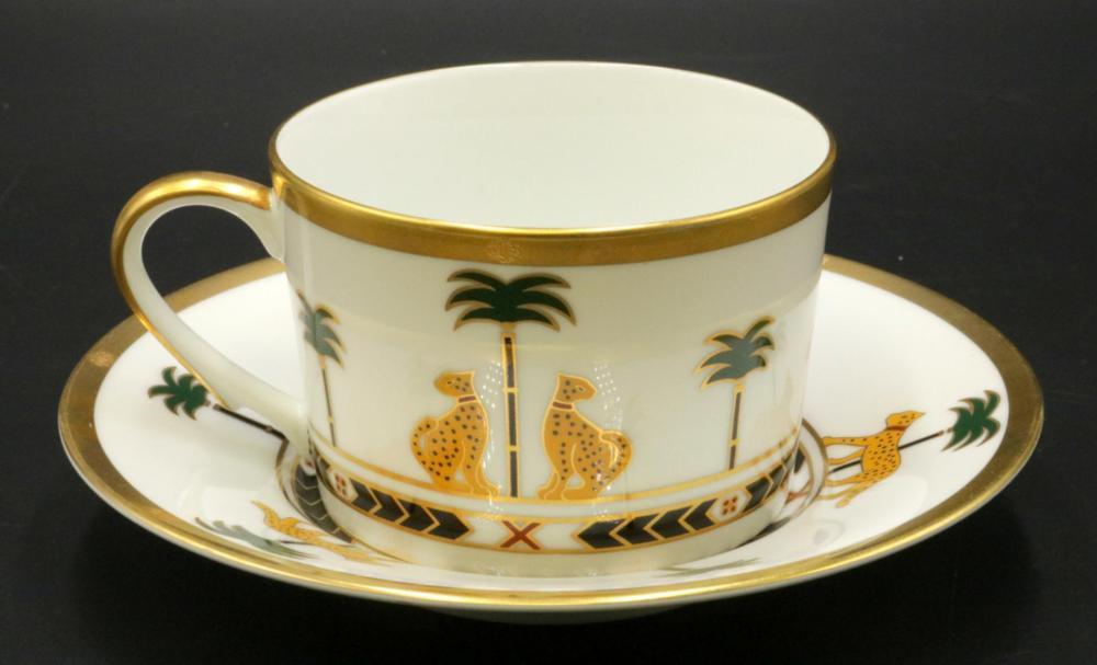 "12 Christian Dior ""Casablanca"" Porcelain Cups & Saucers"