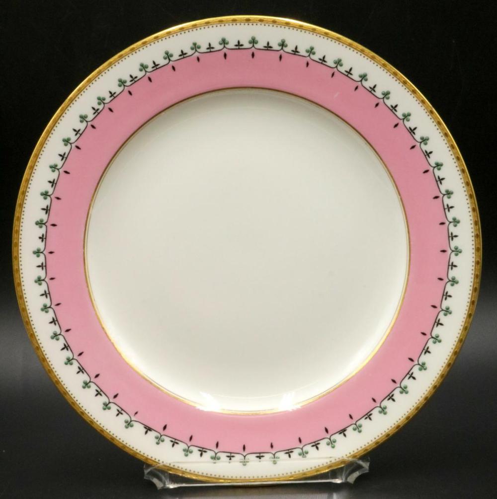 12 Antique Royal Worcester Porcelain Dinner Plates