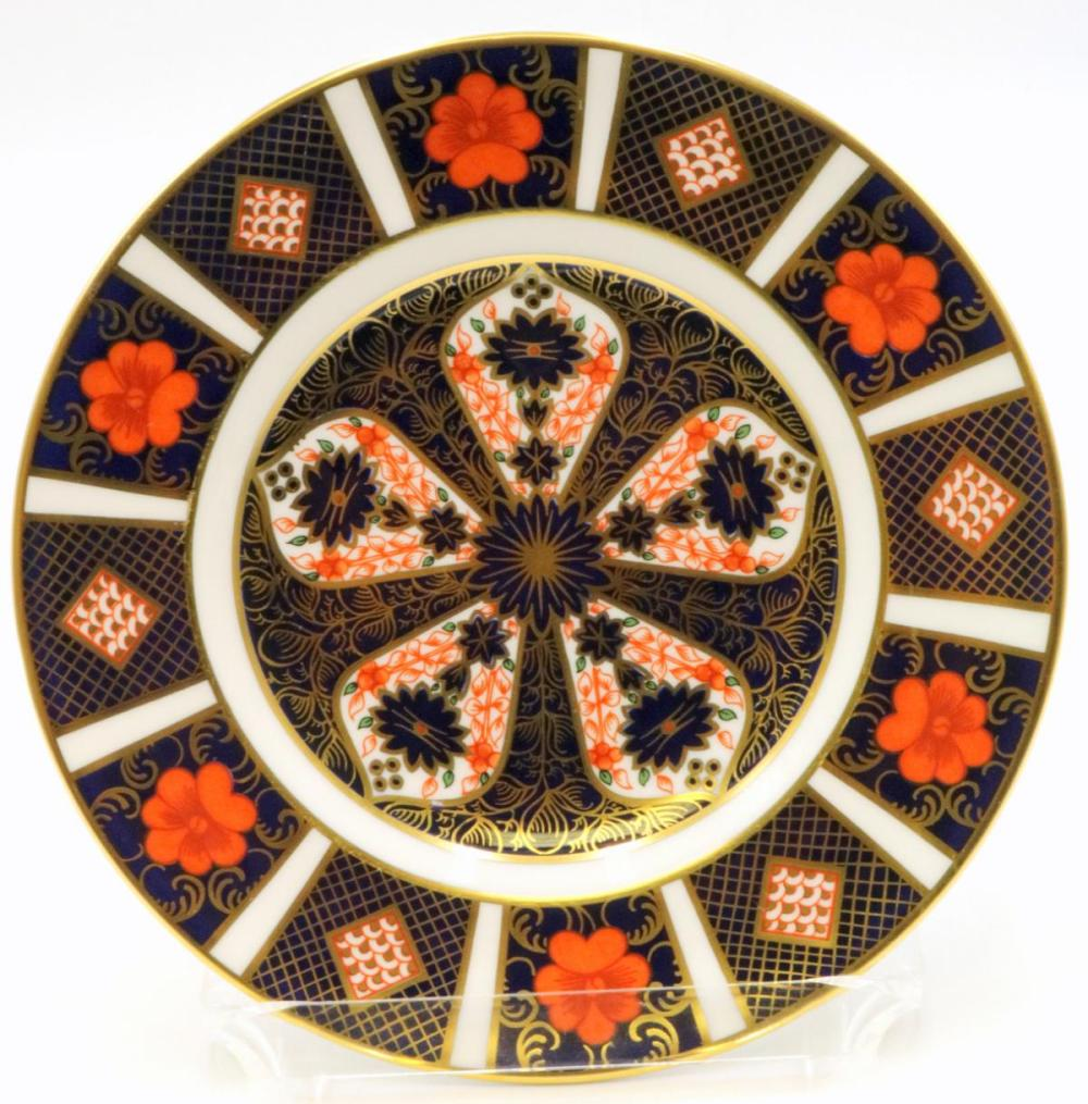 """10 Royal Crown Derby """"Old Imari"""" Bread & Butter Plates"""