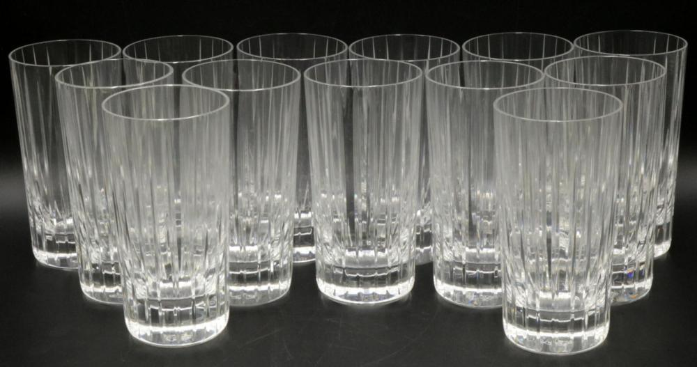"13 Pc. Baccarat ""Harmonie"" Crystal Highball Glasses"