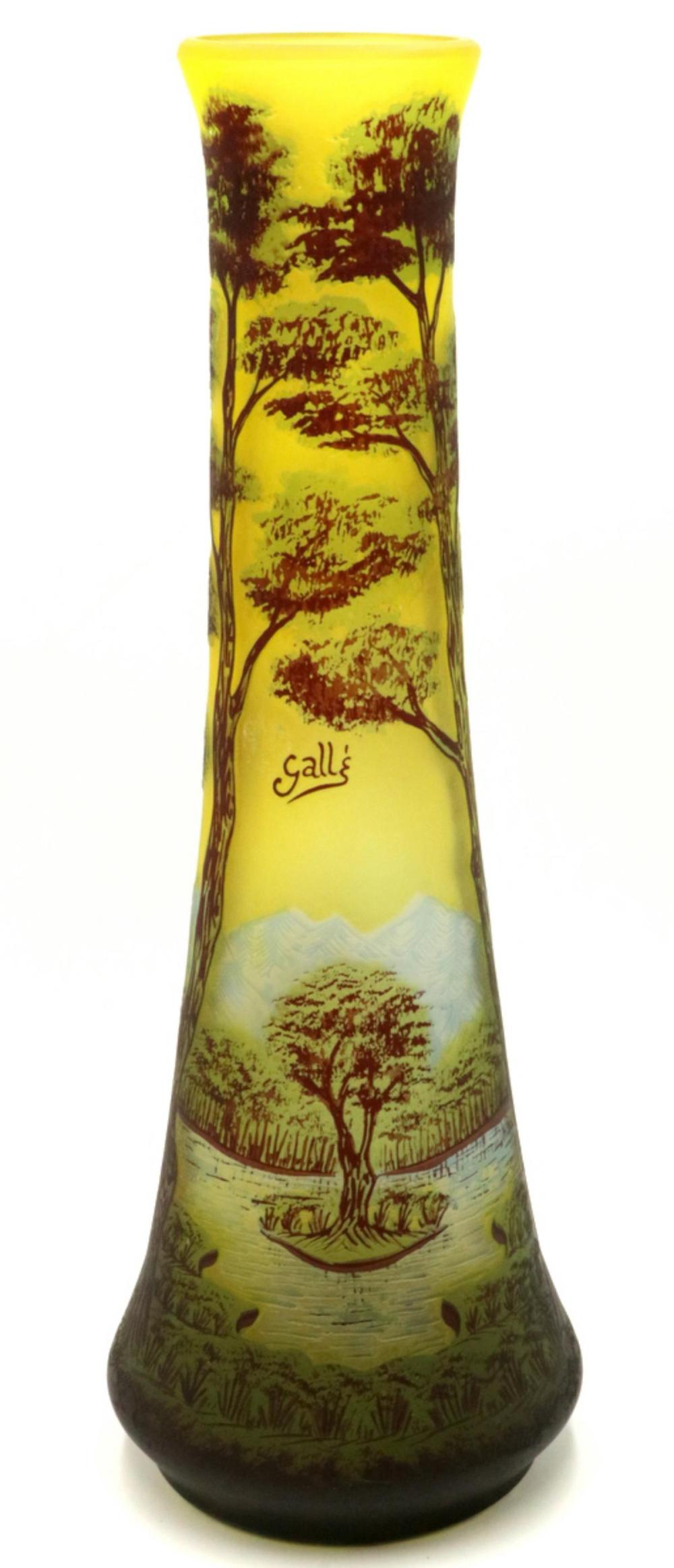 After Galle Cameo Glass Vase