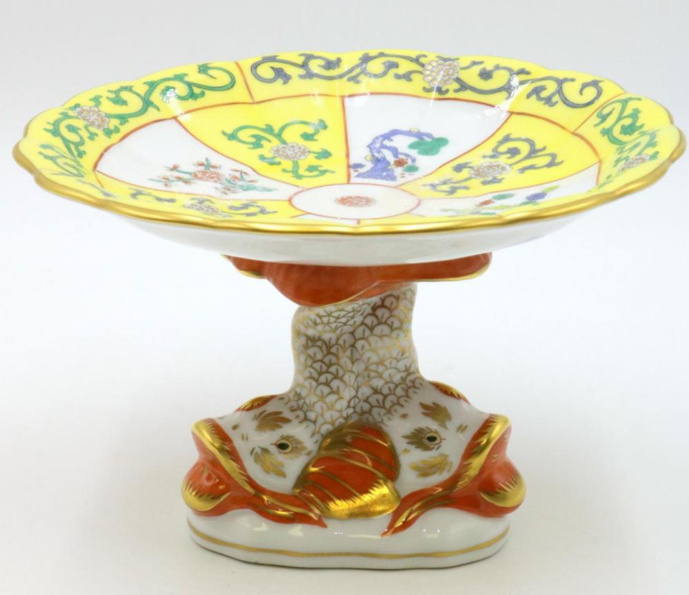 Herend Hand Painted Porcelain Footed Dish