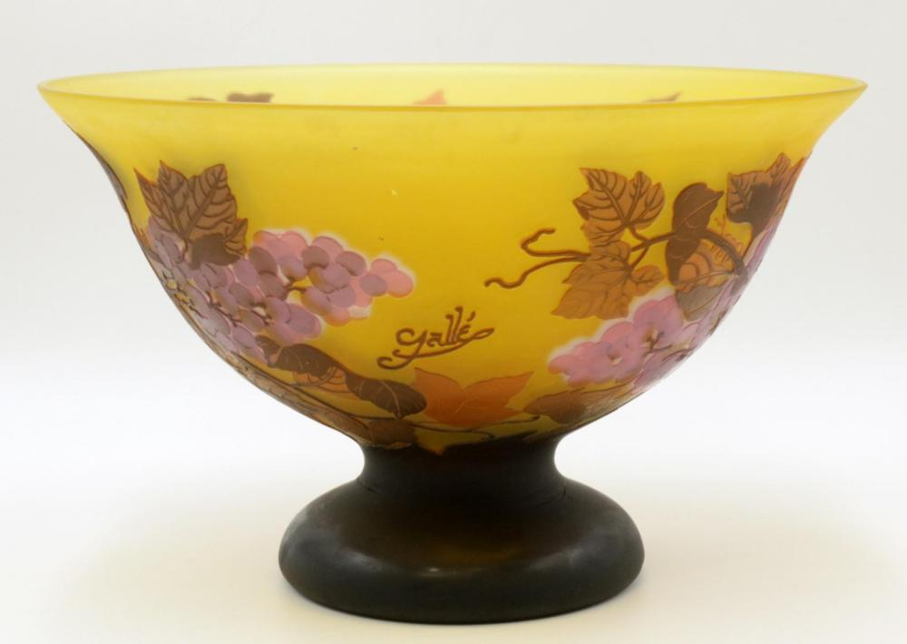 After Galle Cameo Glass Footed Bowl
