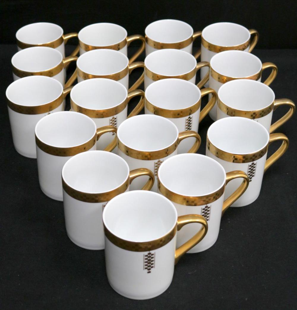 "18 Tiffany & Co. ""Imperial"" Porcelain Mugs"