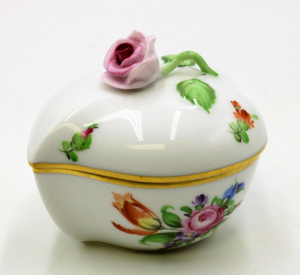 Herend Hand Painted Porcelain Covered Box