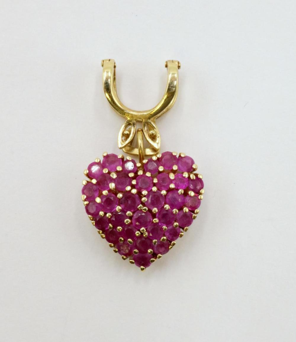 14Kt Yellow Gold & Ruby Pendant