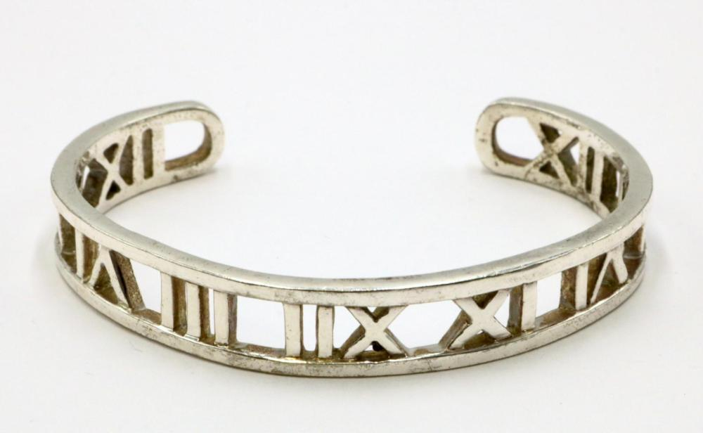 "Tiffany & Co. ""Atlas"" Sterling Bangle"