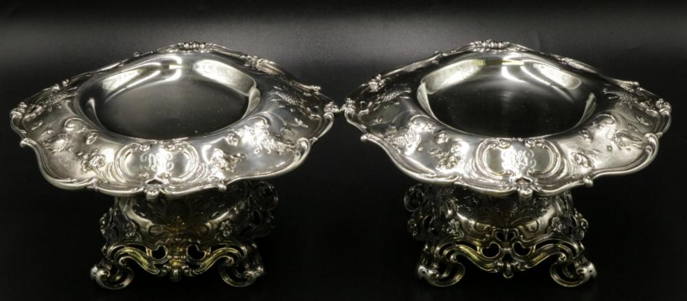 Rare Gorham Sterling Silver Compotes