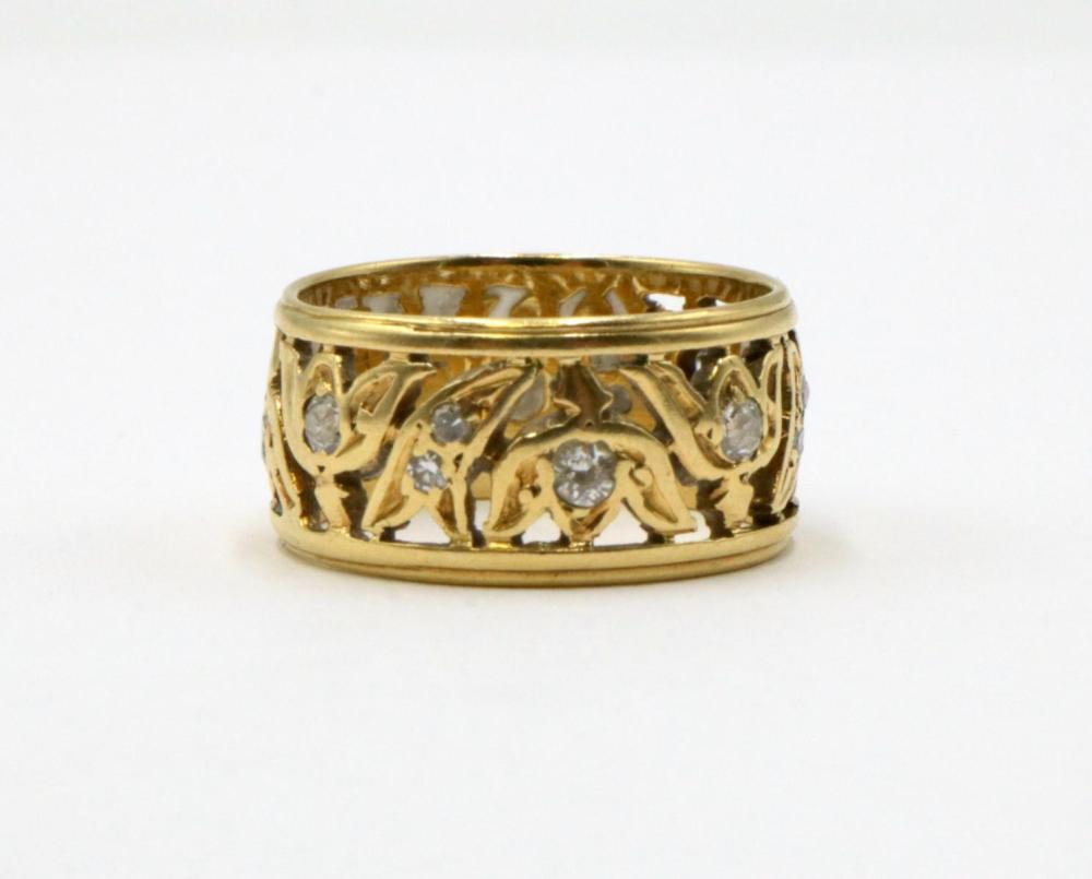 14Kt Yellow Gold & Diamond Ring