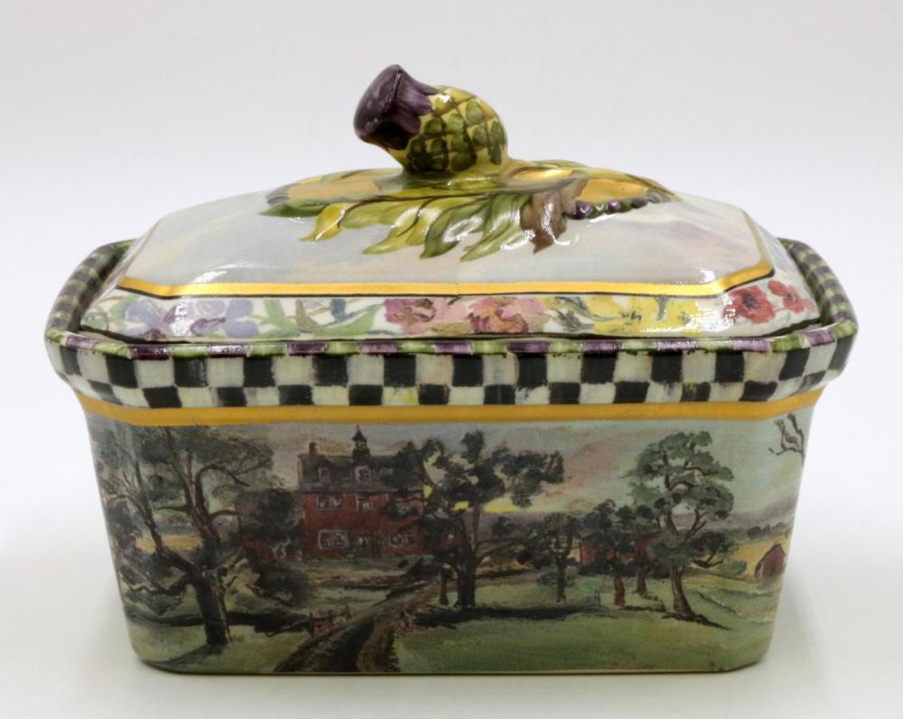Mackenzie Childs Landscape Dresser Box