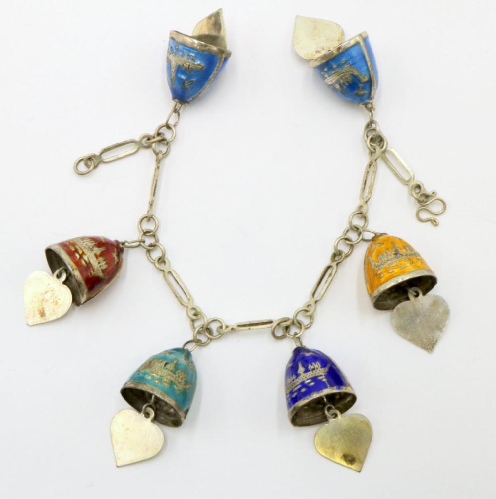 Sterling Silver & Enamel Bracelet