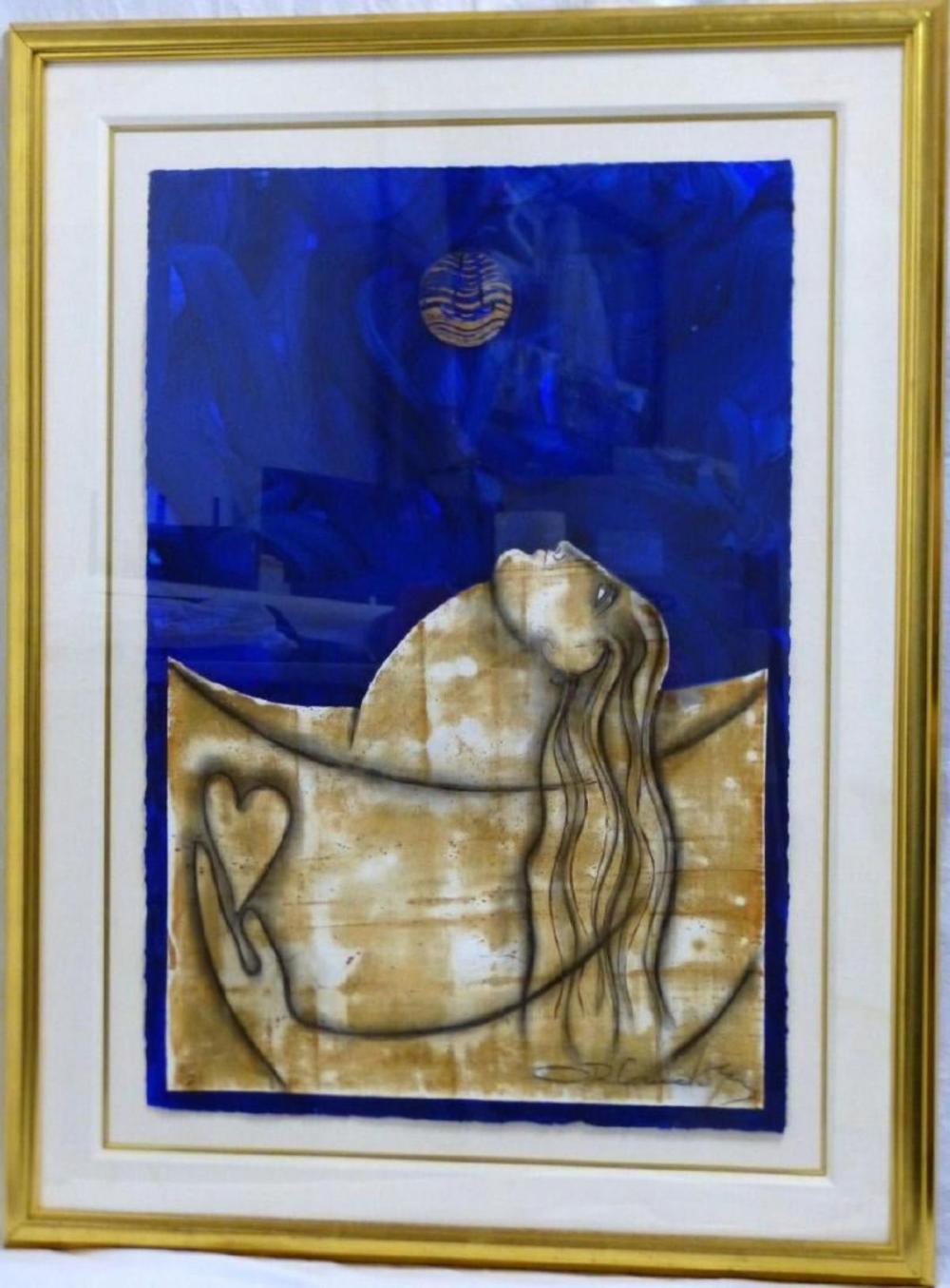 """Orlando Agudelo-Botero """"Maria, Maria, Maria"""" Sculpted Print"""