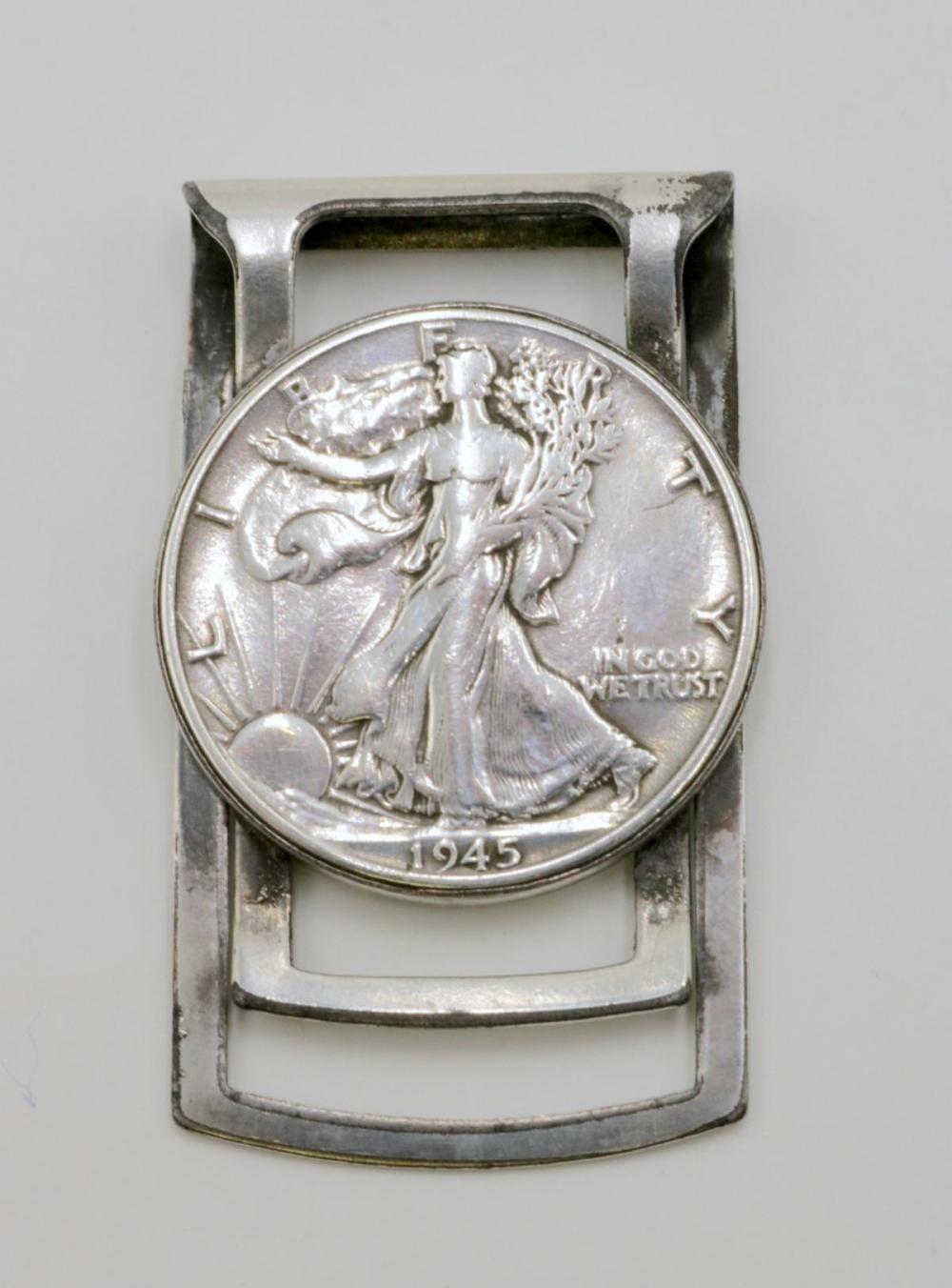 Liberty 1945 Silver Coin Money Clip