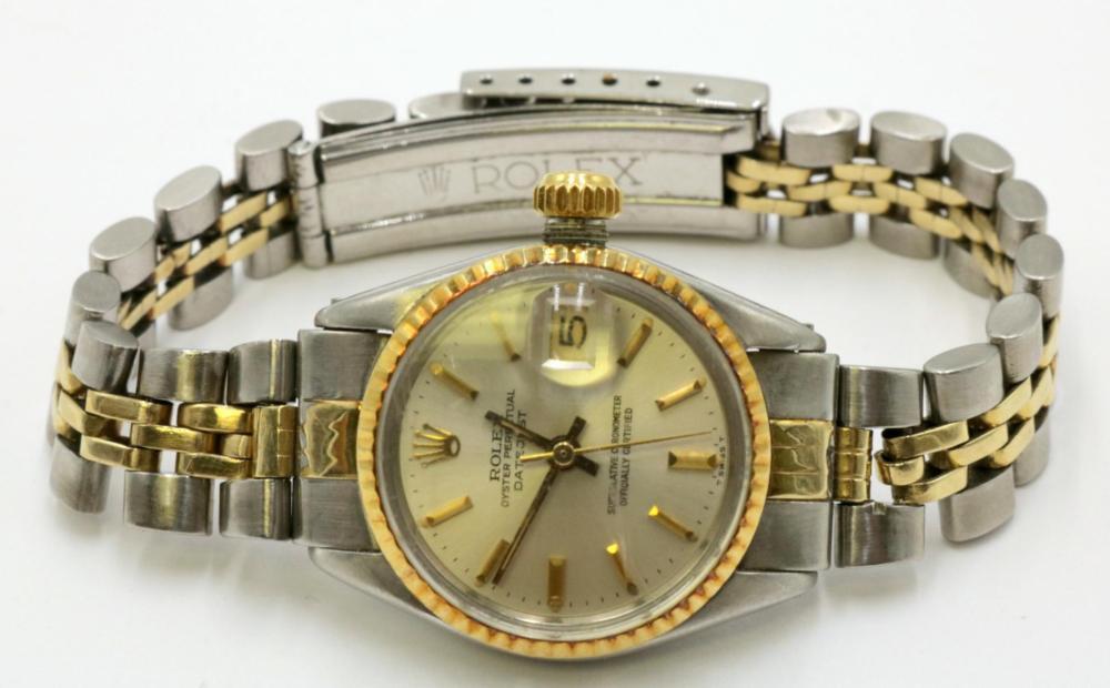 Rolex 14Kt & Stainless Steel Ladies Watch