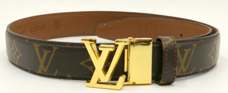 Authentic Louis Vuitton Monogram Canvas 28MM Belt