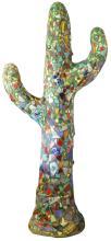 Large Carlos Alves Mosaic Cactus Sculpture