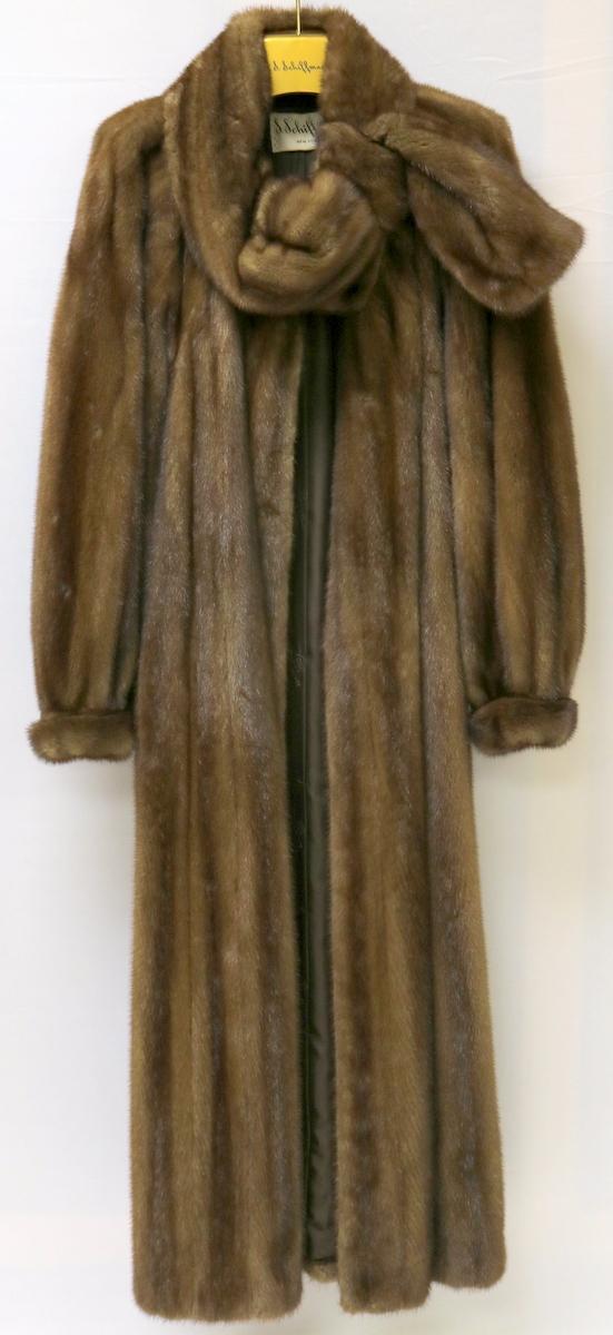 Vintage givenchy haute fourrure brown mink coat for 207 haute antiques