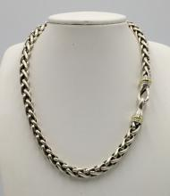 David Yurman 14Kt YG & Sterling Necklace