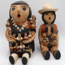 Two CLS Jemez/Pueblo Native American Sculptures