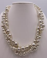 Vintage Tiffany & Co. 3-Strand Beaded Sterling Necklace
