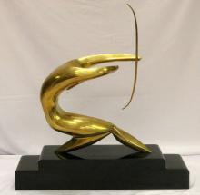 Mid-Century Modern M. Delo (Italian 20th C.) Brass Sculpture