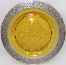 Nautical Glass & Sterling Rim Charger