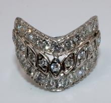 14Kt WG Diamond Ladies Ring