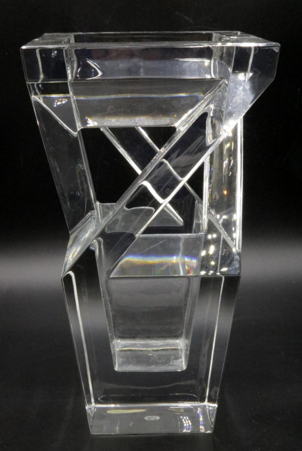 """Baccarat """"Architecture"""" Crystal Vase"""