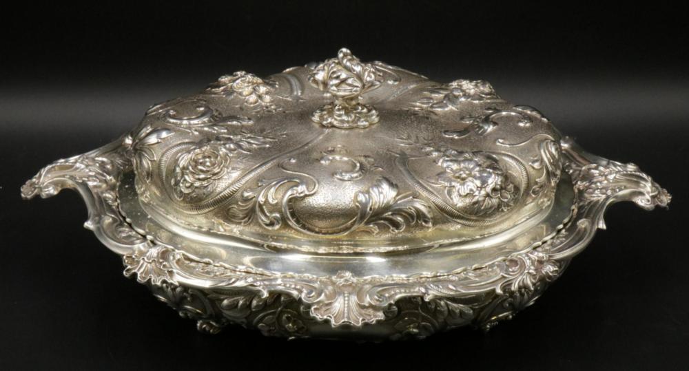 Antique Gorham Sterling Silver Covered Serving Dish