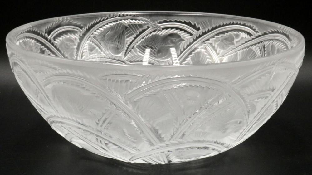 "Lalique ""Pinsons"" Crystal Bowl"