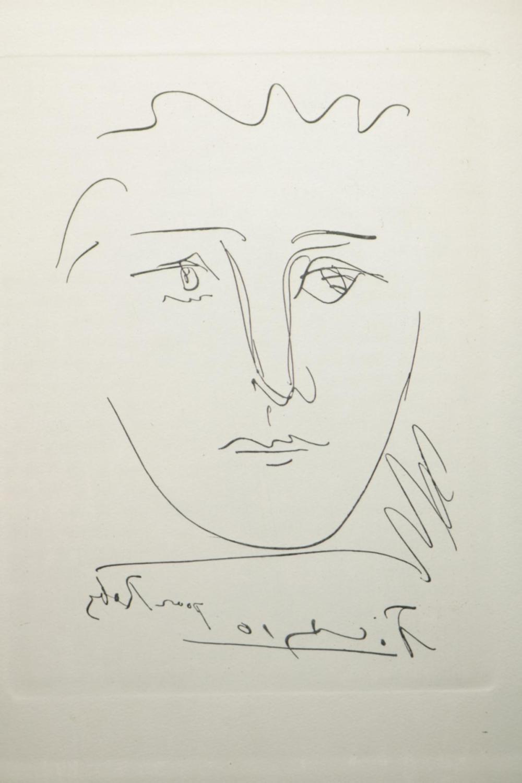 "Pablo Picasso (Spain 1881-1973) ""Pour Roby"" Original Etching"