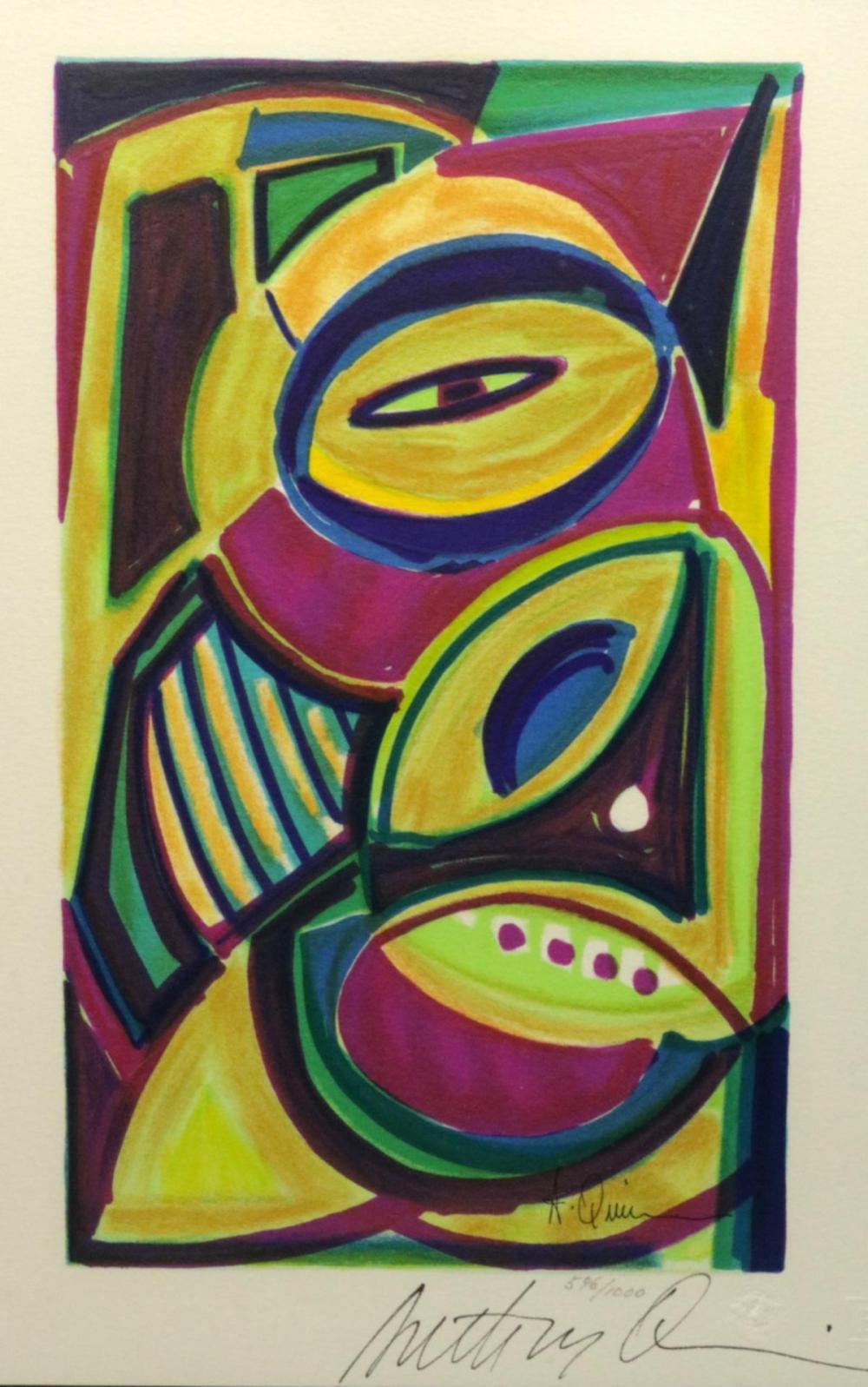 "Anthony Quinn (Mexican 1915-2001) ""1984 Flag Series"" Lithograph"