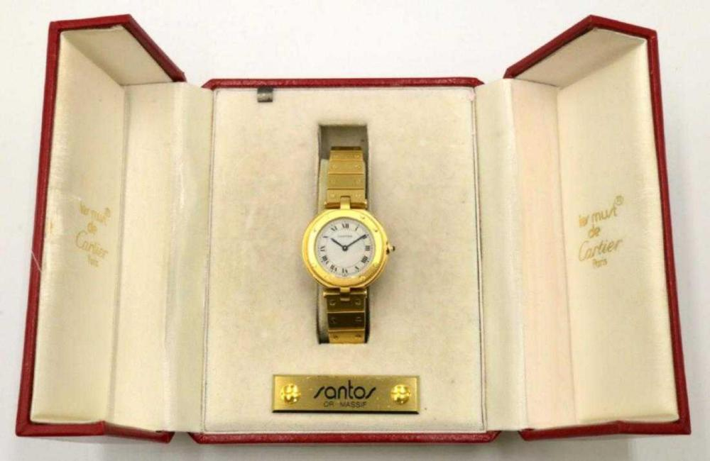 "Cartier ""Santos"" 18Kt Ladies Watch"