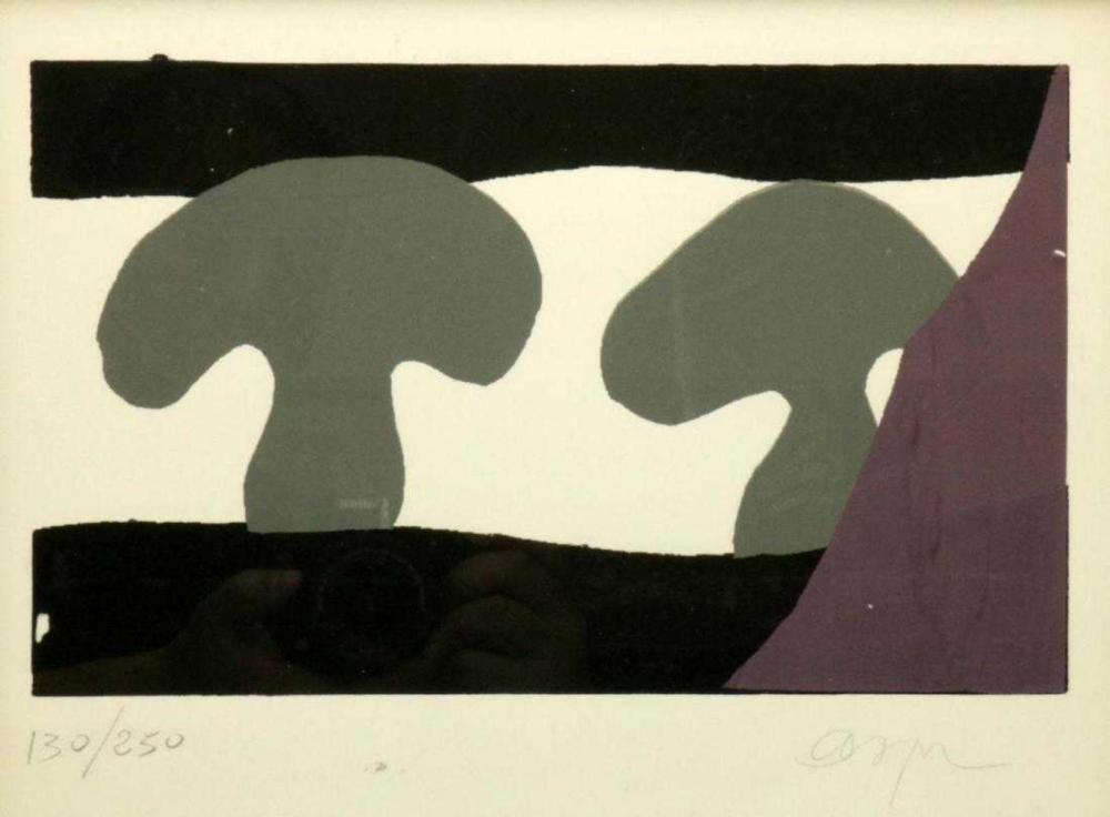 Jean Hans Arp (French) Woodblock