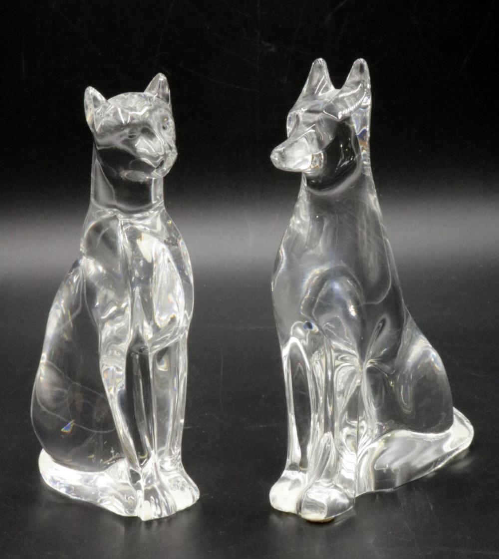 Baccarat Crystal Dog & Cat Group