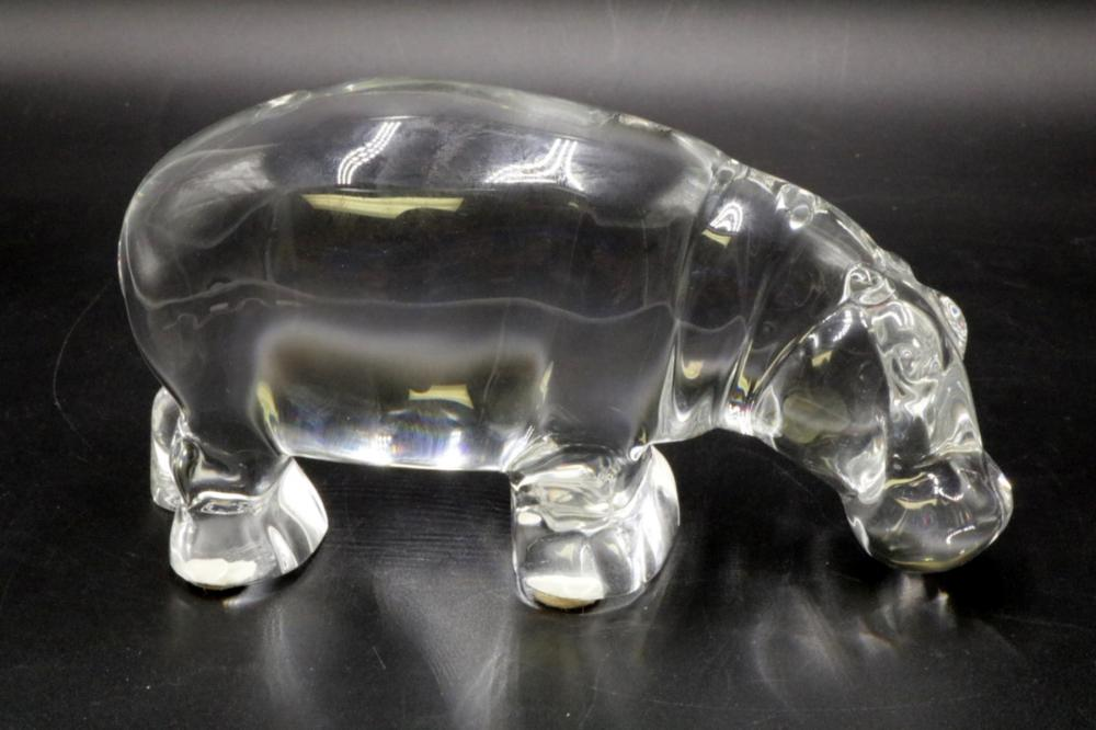 Baccarat Crystal Hippo