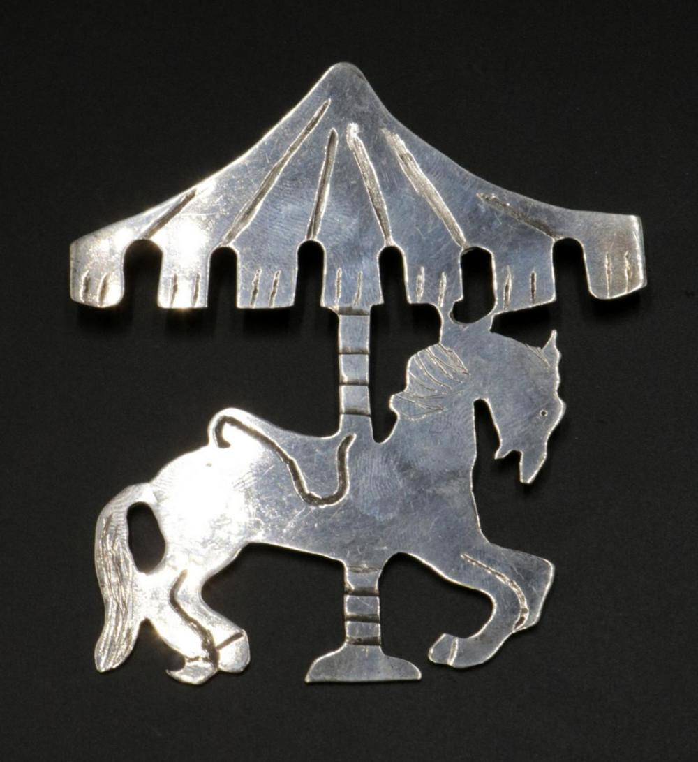 Sterling Silver Carousel Pin