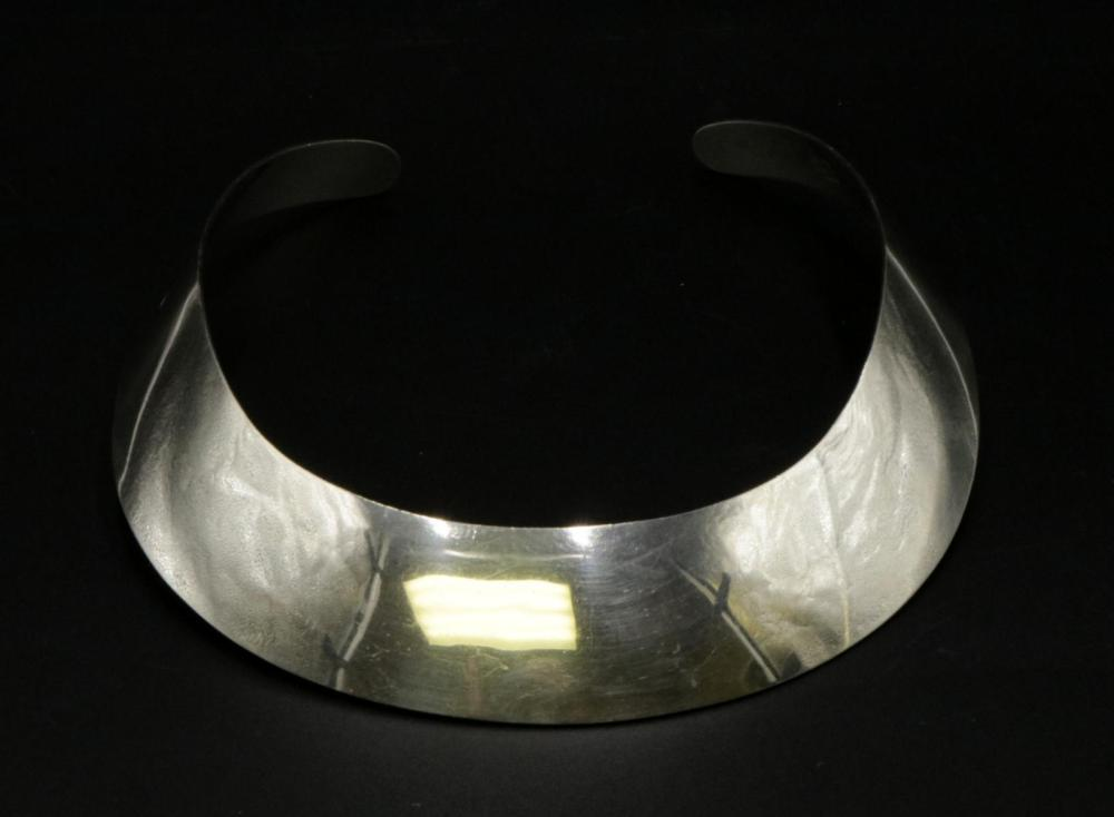 Taxco Sterling Wide Collar Necklace